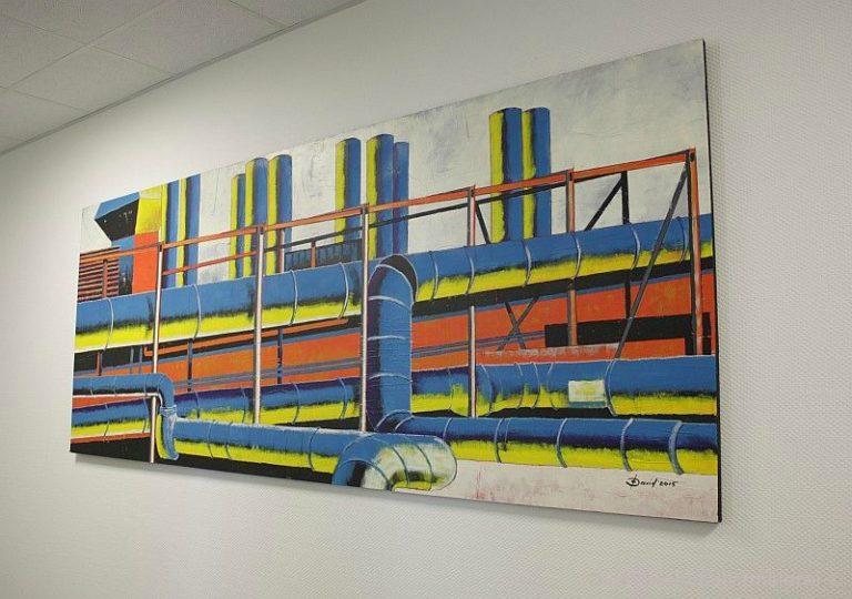 Gemälde mit Industriellem Motiv für Firmen