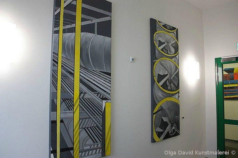 wandgestaltung für Treppenhaus