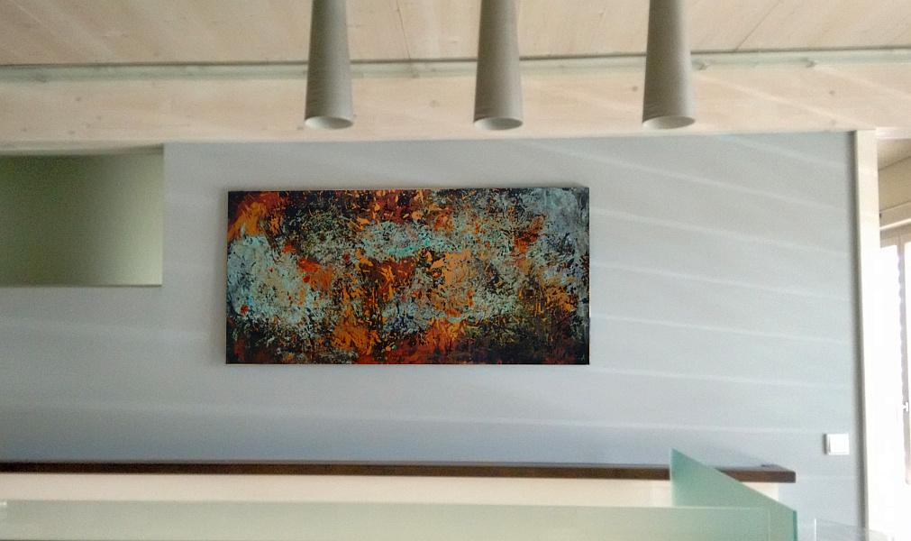 abstraktes Gemälde am Empfang