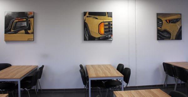 Acrylbild mit Auto Motiv