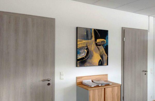 Kunst im Büroraum