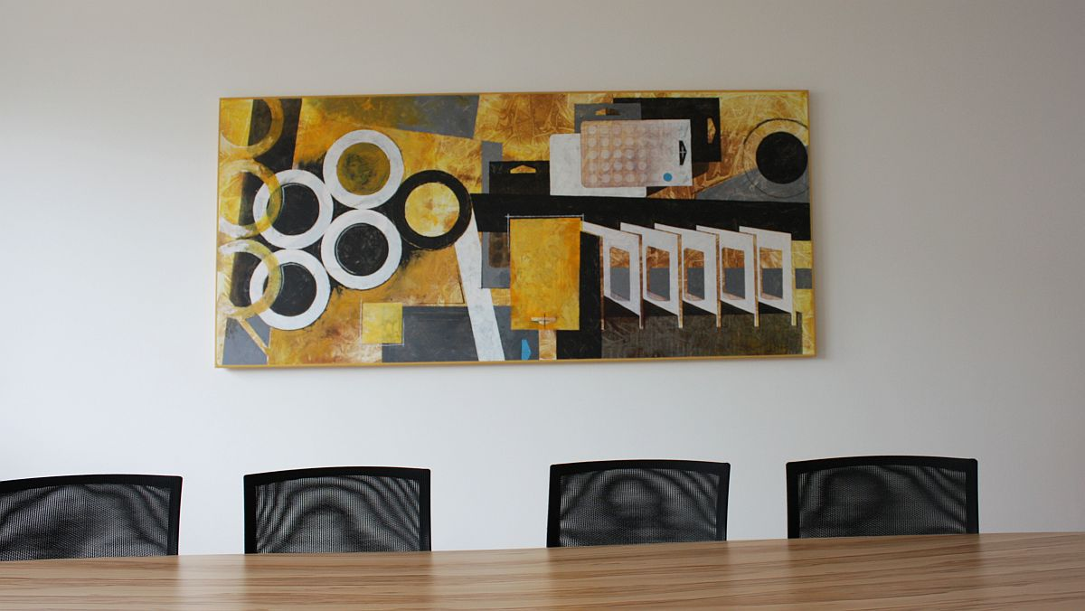 Abstrakte Kunst für Firmen