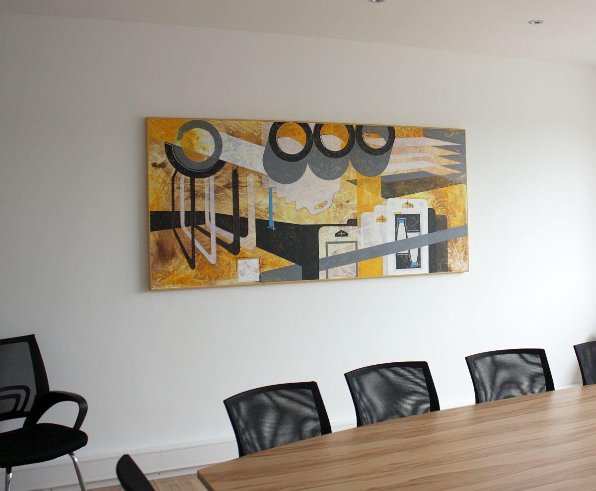 Abstraktes Gemälde für Besprechungspaum
