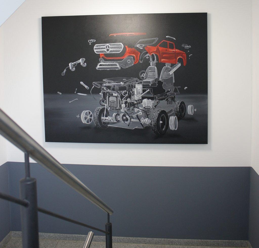 Acrylbild mit Automotiv
