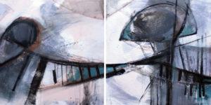 Bilderset Acrylgemälde Abstrakt