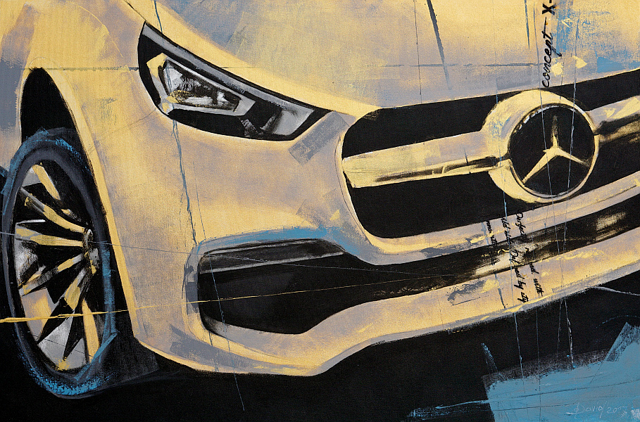Gemälde mit Auto Motiv