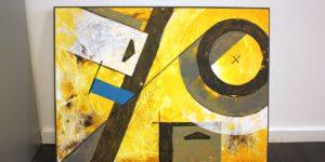 abstraktes Gemälde für Büro